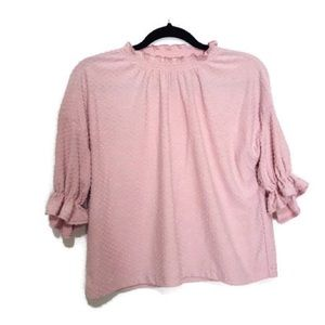 Madewell Texture & thread dust pink blouse